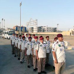 المعسكر الكشفي بتعليم تبوك يواصل تقديم خدماته لضيوف الرحمن القادمين عبر منفذ حالة عمار